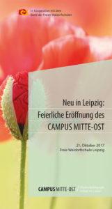 Flyer Eröffnung Campus Mitte-Ost, Leipzig